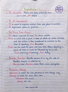 English Grammar Notes, Teaching English Grammar, English Grammar Worksheets, English Sentences, English Writing Skills, English Vocabulary Words, Learn English Words, English Phrases, English Language Learning