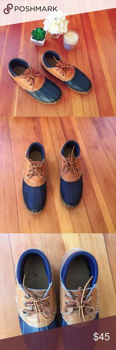 L.L. Bean Hunting Boot L.L. Bean Maine Hunting Duck Boots. No size indication however feel like a 7 (I am a 7.5 for reference so I can get my feet in but do feel tight) Length: 10 1/4 Inches, Top Rated Seller & Posh Ambassador. Bundle & Save 10%! L.L. Bean Shoes