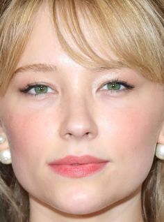 Close-up of Haley Bennett at the Dior Cruise 2017 show. http://beautyeditor.ca/2016/06/07/best-beauty-looks-priyanka-chopra