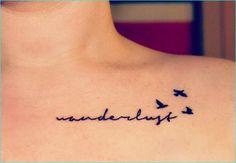 21 Cute Collar Bone Tattoos