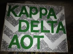 Kappa Delta Chevron Canvas. $35.00, via Etsy.