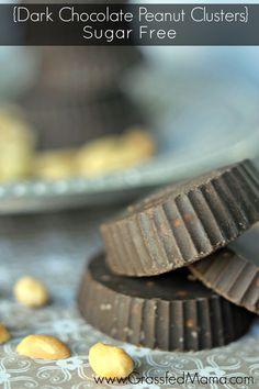 sugar freedark chocolate peanut clusters