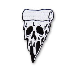 🍕💀 Patch from @nachoscratcho. • Available now in his store, check all the stuff out there, link to store in his bio. • #nachoscratcho #pizza #skull #death #cheese #slice #deathbyslice #patch #patches #patchgame #🍕💀