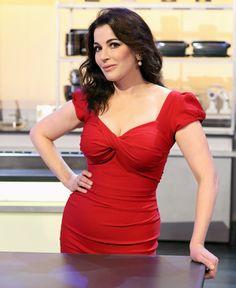 Gorgeous, gorgeous Nigella. Steal her stunning red dress style in the new Nigella Dress at http://www.saintbustier.com #LittleRedDress