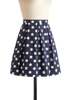 I'm obsessed with polka dots. I'm going to send this Pinterest board to all my relatives who need to ever purchase anything for me ever // $42.99 See You Round Skirt, #ModCloth