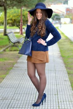 Falda de ante marrón de sheinside