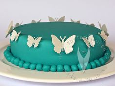 Schmetterling-Torte Butterfly Cakes, Butterflies, Cake Decorating, Decorating Ideas, Babyshower, Moth, Sweets, Desserts, Pastries