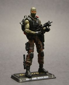 GI Joe Beach Head 50th Style Custom Action Figure by Darksider80