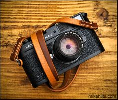 Hand Crafted Leather Camera Strap for the Minimalist Shooter with Linen Stitching. (26.00 GBP) by MHaccoutrements