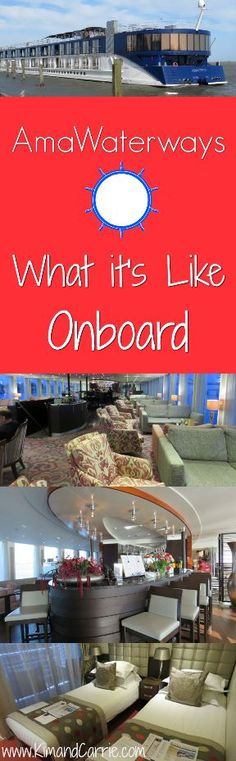 What's a river cruise like onboard? Room tour and ship tour of an AmaWaterways river cruise ship. See what the rooms are like and the onboard amenities with photos and video.