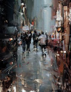 Gloomy Afternoon by Tibor Nagy Oil ~ 16 x 12 City Landscape, Urban Landscape, Landscape Paintings, Landscapes, Abstract Expressionism, Abstract Art, Modern Art, Contemporary Art, City Painting