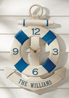 You can personalize your own anchor clock!