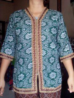 Blues Batik Renda Bahan Katun Rp35.000