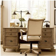 This gorgeous desk gives your office a relaxed feel.