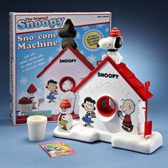 Snoopy Sno-Cone Machine | 25 Awesome '80s Toys You Never Got But Can Totally Buy Today SO FREAKING HARD TO MAKE