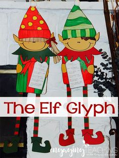 Elf Glyph and Narrative Writing Lesson. Adorable Elf craft with optional writing lesson! Writing Lessons, Writing Activities, Christmas Activities, Christmas Crafts, Christmas Ideas, Winter Activities, Elf Art, Stationery Craft, Narrative Writing