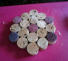 diy wine cork coaster