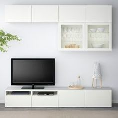 we could get like the end two cabinets to put the tv on because it looks a bit weird on the wall ikea besta - Поиск в Google