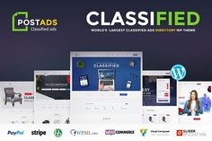 Classified WordPress Theme - PostAds by designs.villa on @creativemarket