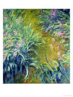 Iris Giclee Print by Claude Monet at Art.com