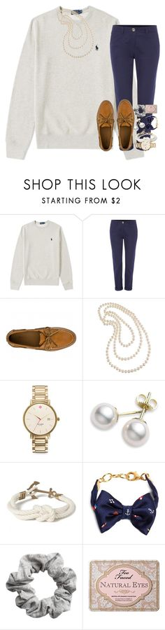 """just ordered school uniforms"" by kate-elizabethh ❤ liked on Polyvore featuring Sperry, Cezanne, Kate Spade, Mikimoto, Kiel James Patrick, Brooks Brothers, H&M and Too Faced Cosmetics"