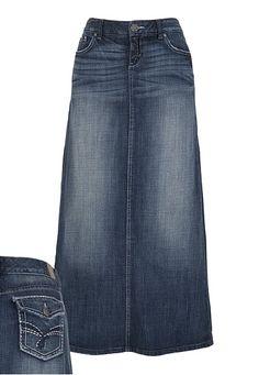 The elusive long denim skirt.