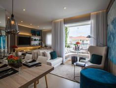 Integração total dos ambientes de estar, jantar, varanda! (projeto Claudia Albertini)