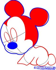 Since the chibi Mickey I drew was a big success, I thought making another cute tutorial on Mickey Mouse would be perfect for all you fans of this lovable . Mini Mouse Baby Shower, Baby Mouse, Baby Shower Gifts, Baby Drawing, Drawing For Kids, Painting & Drawing, Drawing Ideas, Online Coloring For Kids, Baby Mickey