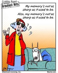 Yeah and my memory isn't as sharp as it use to be! - Maxine Humor - Maxine Humor meme - - Yeah and my memory isn't as sharp as it use to be! The post Yeah and my memory isn't as sharp as it use to be! appeared first on Gag Dad. Menopause Humor, Senior Humor, Party Friends, Aging Quotes, Aunty Acid, Thing 1, My Memory, Just For Laughs, Getting Old