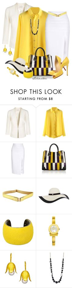 """Pivonka#1304"" by lilikatka ❤ liked on Polyvore featuring Jacques Vert, Cushnie Et Ochs, Jason Wu, Christian Louboutin, Isabel Marant, Salvatore Ferragamo, Rena Luxx and Betty Jackson"