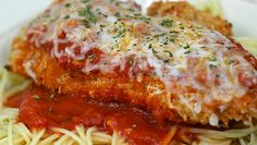 """Crock Pot Chicken Parmesan ~~~ This is one of my favorite """"healthier"""" Italian dishes. Carb-concious crockers can omit the bread crumbs and instead just dredge through the herbs cheese. If you do this, though, be sure to increase the amount of herbs and cheese accordingly."""