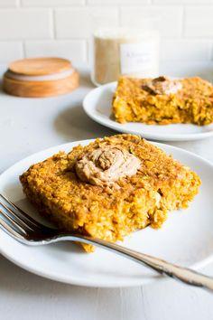 pumpkin zucchini breakfast bake--easily veganizable.