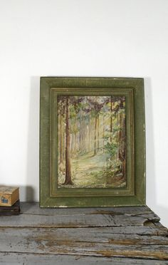 Vintage Forest Watercolor