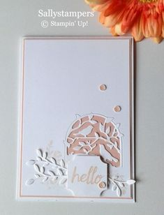 Scrapbook Cards, Scrapbooking, Feather Cards, Stampin Pretty, Send A Card, Pink Cards, Stamping Up Cards, Get Well Cards, Card Making Inspiration