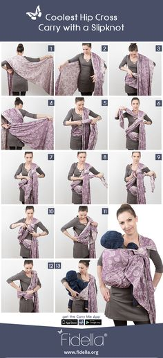 Instruction: Coolest Hip Cross Carry with a Slipknot - baby wrap - Neugeborene Baby On The Way, Baby Love, Baby Baby, Moby Wrap Holds, Woven Wrap Carries, Baby Wearing Wrap, Baby Carrying, Baby Wrap Carrier, Baby Sling