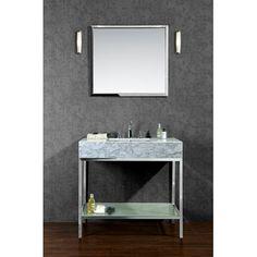 "Ariel Bath Brightwater 36"" Single Bathroom Vanity Set with Mirror & Reviews | Wayfair"
