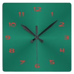 Rich Green and Red > Plain Kitchen Clocks