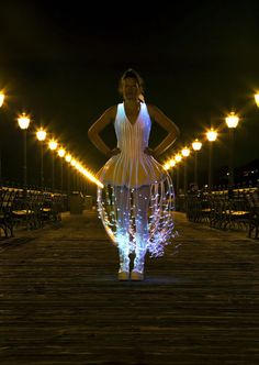 FIber Optic Dress. This is a dress I made using fiber optics from Ants on a Melon. Video was taken by Audrey Love. Song is by Opiuo.