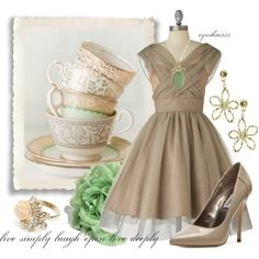 Fun With Friends~Tea time, created by cynthia335 on Polyvore