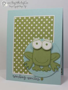 Stampin' Up! Playful Pals Frog Smile Card