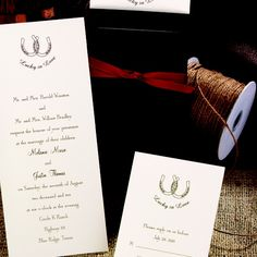 Elegant country horseshoe featherpress invitation i shown in ecru elegant country horseshoe featherpress invitation i shown in ecru with lilac print western wedding pinterest wedding themed weddings and weddings sciox Gallery