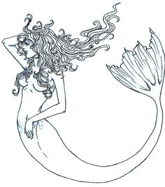 mermaid_outline_by_pandabearr-d41unj7.jpg (634×720)