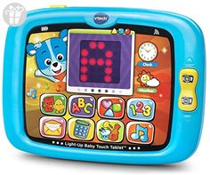 VTech Light-Up Baby Touch Tablet - Blue - Online Exclusive (*Amazon Partner-Link)