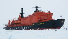 The world's largest nuclear icebreaker is the 50 Let Pobedy. It's 159.60 meters long and GT is 23,439 tonnes. Plus it's a giant nuclear powered ship that cuts through ice.