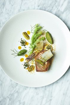 Skate, broccoli & fermented endive from Lee Westcott, Typing Room