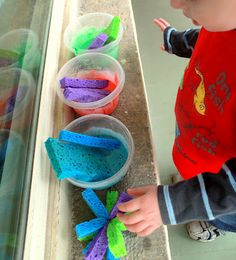 Window Paint Art Activity on hands on : as we grow