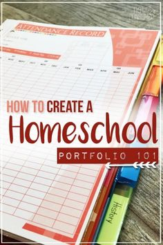 Wondering how to create a homeschool portfolio? Got questions about the process? I& got simple answers and support for you! Wondering how to create a homeschool portfolio? Got questions about the process? Ive got simple answers and support for you! Planning School, School Plan, School Tips, School Ideas, School Schedule, School Essay, School Projects, School Stuff, Homeschool High School