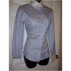 Designer T M LEWIN Ladies Stunning Fitted Smart Casual Shirt Blouse Top