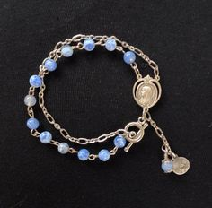 Handmade Silver Vintage Rosary Bracelet por LesChosesNecessaires, $20.00