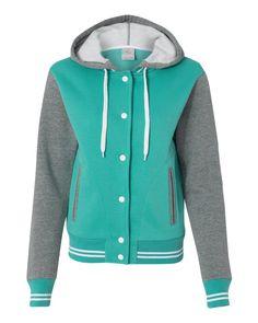 MV Sport Ladies Varsity Sweatshirt Free Shipping
